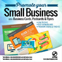 Business Cards, Postcards & Flyers Template