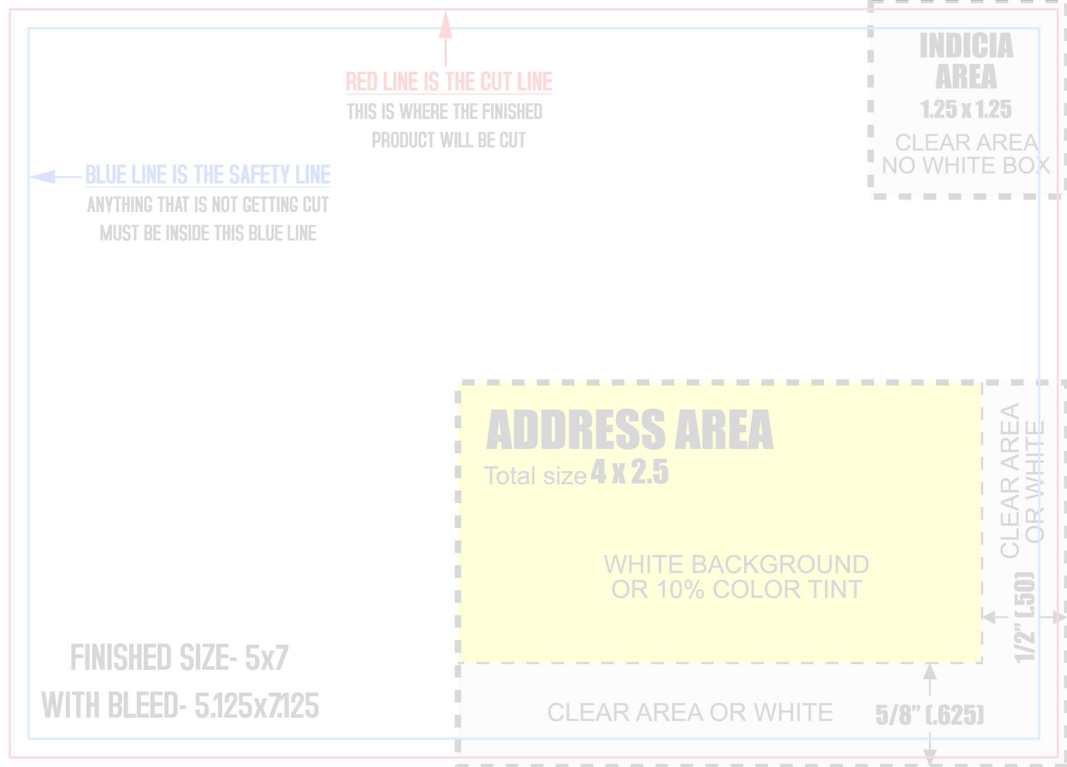 Over Certified Mailing Templates - 4over business card template